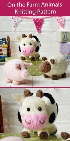 Easy Knitting Projects, Knitting Kits, Yarn Projects, Baby Knitting, Knitting Needles, Knitted Doll Patterns, Animal Knitting Patterns, Knitted Dolls, Stuffed Animal Patterns