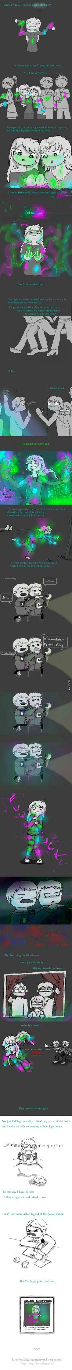 This is so amazing omg (i break glow sticks on purpose cuz i like to put glow on everything lol)
