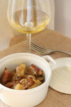 receta: guiso de patatas y longaniza a las hierbas provenzales y limón