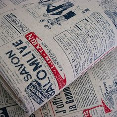 Japanese Vintage Chic FRENCH OLD FASHIONED MUSIC NEWSPAPER Cotton Linen Fabric | eBay