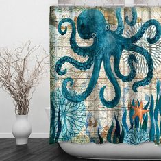 CUSTOMIZE YOUR BATHROOM DECOR WITH UNIQUE SHOWER CURTAINS. WITH THEIR ENTICING SEA CREATURES: STARFISH, SEAHORSE, OCTOPUS, SEA TURTLE, SHELL, OR HUMPBACK WHALE, QUASAR MARINE STYLE SHOWER CURTAINS CAPTURE THE ESSENCE OF NATURE'S UNDERSEA WORLD...  FLASH SALE: 50% OFF FOR THE NEXT FEW HOURS! Size :150cm W X 180cm H (59x71 inches approx.) / 180cm W X 180cm H (71 inches square) Material: Waterproof Polyester Fabric Printing Only One Side Printing , the other side is pure color Pac...