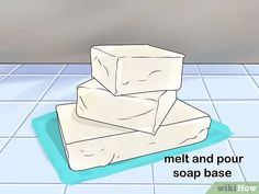 How to Make 'Melt and Pour' Soap. Melt and pour soap is the easiest method of making homemade soap. Because the soap base has already been made and prepared for you, you do not have to worry about working with lye, like you would with cold. Tea Tree Oil Soap, Bazaar Crafts, Small Bars, Soap Making Supplies, Soap Base, Rubbing Alcohol, Soap Recipes, Soap Molds, Home Made Soap
