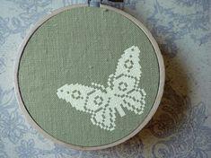 Flutter Butterfly Cross Stitch Pattern PDF File by andwabisabi, $2.50