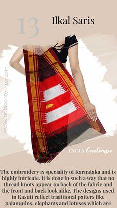 The Ilkal Anjuman Weavers Women's Silk and Cotton Saree (Multi-Coloured) Indian Textiles, Indian Fabric, Kerala Saree Blouse Designs, Indian Culture And Tradition, Khadi Saree, Fashion Terms, Stylish Blouse Design, Fashion Vocabulary, Elegant Saree