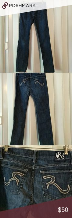 Rock and Republic jeans Rock and republic jeans Great condition Size 29x32 Ever so lite wear showing pictures in the last picture. Rock & Republic Jeans