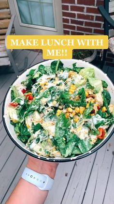 Healthy Meal Prep, Healthy Salad Recipes, Lunch Recipes, Healthy Snacks, Dinner Recipes, Healthy Eating, Healthy Cheap Meals, Healthy Recipe Videos, Comidas Light