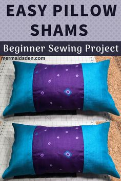 Sew this easy pillow sham. #beginnersewing #sewingtutorial #easysewing #freesewingpattern