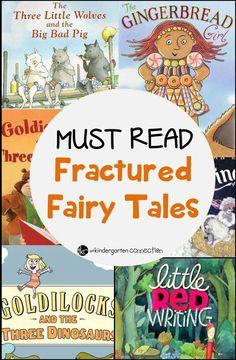 Fractured Fairy Tales book list for preschool and kindergarten