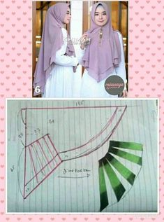 Best 12 Pola kerudung – Page 545498573616003156 Muslim Fashion, Hijab Fashion, Diy Fashion Scarf, Abaya Pattern, Hijab Style Dress, Hijab Niqab, Sleeves Designs For Dresses, Muslim Dress, Hijab Tutorial