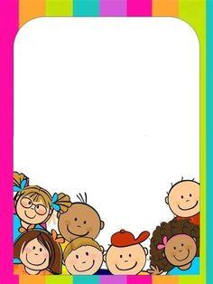 Resultado De Imagen Para Tareas Para Pre Kinder Para Boarder Designs, Page Borders Design, Kindergarten Crafts, Preschool, School Border, Its A Girl Banner, Kindergarten Portfolio, Notebook Cover Design, Superhero Classroom