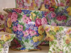 Pretty Floral Tea & China Set