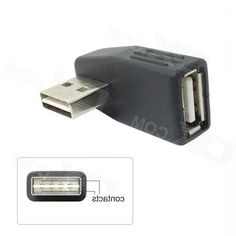 CYU2-294-BK Usb 2.0 A Type Male to Female Extension Adapter - Black
