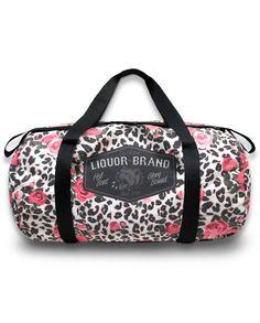 Liquor Brand Damen Tasche/Bags Floral Leo.Oldschool,Tattoo, Pin up, Custom Style
