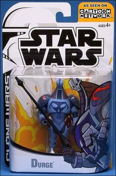 2003 Durge Star Wars The Clone Wars Action Figure by hasbro NIP NIB