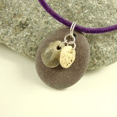 Slightly Purple Stone Fossil Porcelain by CalliopeAZCreations, $26.00