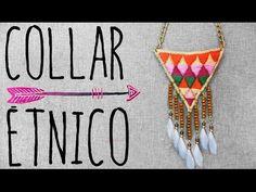 COLLAR BORDADO ÉTNICO - YouTube Diy Necklace, String Bikinis, Youtube, Swimwear, Handmade, Fashion, Wave, Necklaces, Needlepoint
