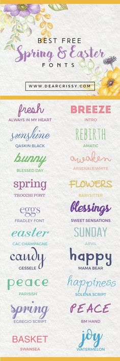 Best Free Easter Fonts - Fonts - Ideas of Fonts - These pretty free Spring fonts are gorgeous for your spring projects. Check out which fonts made my list of favorites. Alphabet Police, Police Font, Font Alphabet, Fancy Fonts, Cool Fonts, Pretty Fonts, Easter Fonts, Spring Font, Typographie Fonts
