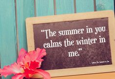 Quotes about Summer: The Summer in You, a great love quote too!