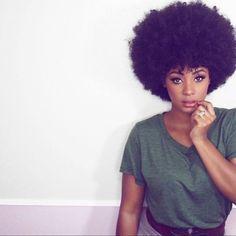 Afro sur Cheveux afro crépus naturels