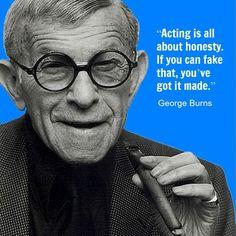 George Burns  - Movie Actor Quote - Film Actor Quote  #georgeburns