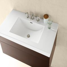* His sink for master bathroom; Ronbow 216637-8-WH 37 Inch Ceramic Lav Sinktop Rectangle With Overflow (8 Inch Widespread) In White; ($525 HP)
