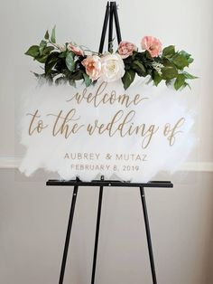 Wedding signs are everywhere — when your guests enter your wedding for the first time, at the wedding favor table, the gift table, on the guest tables. They're all over the place and they can act… Wedding Bride, Wedding Blog, Rustic Wedding, Wedding Ceremony, Dream Wedding, Wedding Day, Handmade Wedding, Wedding Dresses, Wedding Skirt