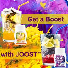 Get that boost you need with aloe Joost! An amazing new product that can brighten up your drink, yogurts and fruits with just a squirt of these tasty Joost! Forever Living Aloe Vera, Forever Aloe, Clean9, Daily Vitamins, Forever Living Products, Natural Energy, Proper Nutrition, Nutritional Supplements, Balanced Diet