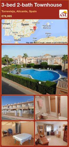 3-bed 2-bath Townhouse in Torrevieja, Alicante, Spain ►€79,995 #PropertyForSaleInSpain