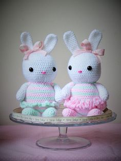 Large Amigurumi Crochet Bunny. Ideal for a new baby, christening or baby shower gift! Available from ETSY. Hand made with love by Kinderkraft!