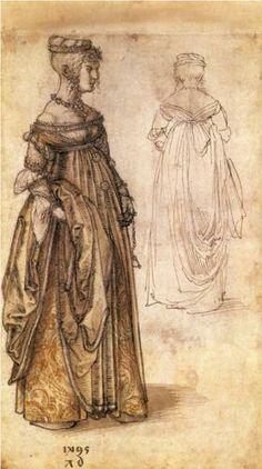 Two Venetian women  - Albrecht Durer