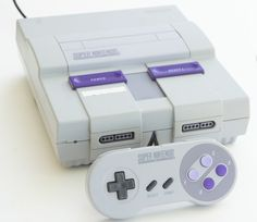Super Nintendo System SNES White Console with Game TESTED (NTSC)  #Nintendo