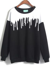 Black Long Sleeve Drop Patterned Print Loose Sweatshirt       http://www.shein.com/Black-Long-Sleeve-Drop-Print-Loose-Sweatshirt-p-196207-cat-1773.html