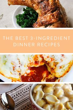 The Best 3-Ingredient Dinner Recipes via @PureWow