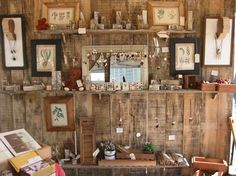 shelving / frames art or craft fair booth design set-up rustic