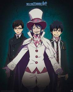 Poster Blue Exorcist Mephisto Yukio et Rin