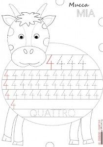 cow number 4 trace worksheet
