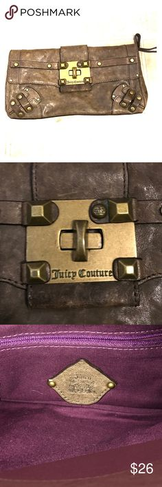 Juicy Couture Brown Leather Clutch Bag 😘😘 Title Says It All. 😘😘 This Juicy Couture leather Clutch bag is in good preowned condition. Some minor wear on the corners but nothing major. This clutch is perfect for a day or an evening out. Make Me an offer 😘😘 Juicy Couture Bags Clutches & Wristlets