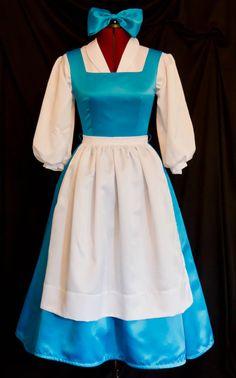 DELUXE Adult Blue BELLE Blue Provincial Costume CUSTOM por mom2rtk, $299.99