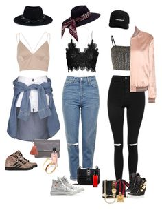 """""""Side chic"""" by audrey-balt ❤ liked on Polyvore featuring Aamaya by Priyanka, River Island, Topshop, Yves Saint Laurent, Giuseppe Zanotti, adidas, Converse, Gucci, Valentino and Michael Kors"""