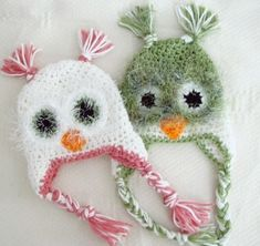 Crochet Fuzzy Owl Baby Hat Newborn to 12 Months by ana9112