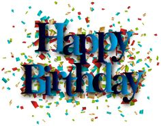 Blue Happy Birthday PNG Clip Art Image