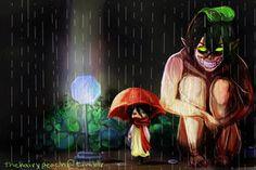 Shingeki no Kyojin x Totoro crossover