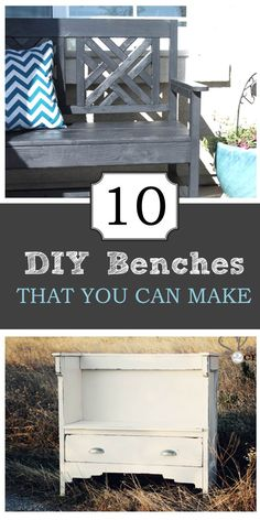 10 DIY benches you can make with full plans ! #benches #DIY