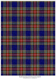 Blue Multi Colour Tartan Effect A4 Backing Paper on Craftsuprint designed by Elaine Sheldrake - Perfect backing paper for matting cards and scrapbooking. - Now available for download!