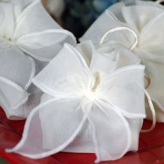 Organza Drawstring Favor Pouches by Beau-coup