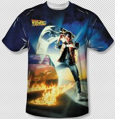 Back To The Future Poster Big Print Sublimation Licensed Adult T Shirt