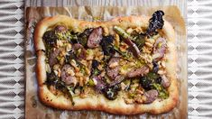 Pizza, of all dishes, probably offers the most versatility. This sausage and broccoli pizza, dressed in a spicy, pickled pepperoncini sauce is just one example. Pickled Pepperoncini, Vodka Potato, Broccoli Pizza, Parmesan Pizza, Best Lunch Recipes, Pizza Recipes, Pickle Vodka, Best Pickles, Homemade Pickles