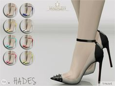 Madlen Hades Shoes  New stiletto heels with stud-embellished toe cap. Come in 9 colours (patent leather texture).You cannot change the mesh, but feel free to recolour it as long as you add original link in the description.If you can't see this creation in CAS, please update your game.If you''e experiencing thumbnail problem, update your game (latest patch should solve the problem).Hope you'll like it!Enjoy!  DOWNLOAD