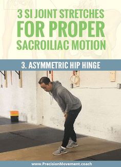Stuck feeling in the SI joint? Add these 3 SI joint stretches to your routine to improve sacroiliac motion and get your SI joint back in line: www. Si Joint Pain, Hip Pain, Back Pain, Psoas Release, Rheumatoid Arthritis Treatment, Psoas Muscle, Yoga Quotes, Pain Relief, Workouts