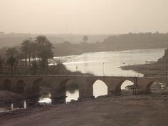 The Euphrates river in Haditha Iraq